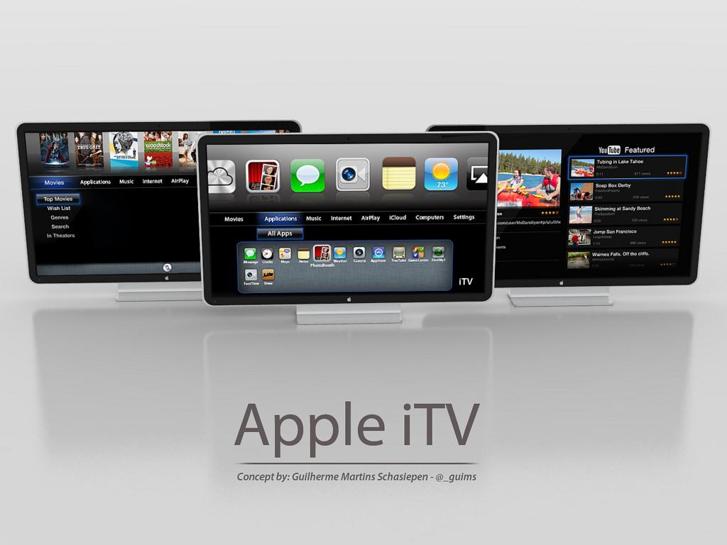 Diseño conceptual de Apple iTV