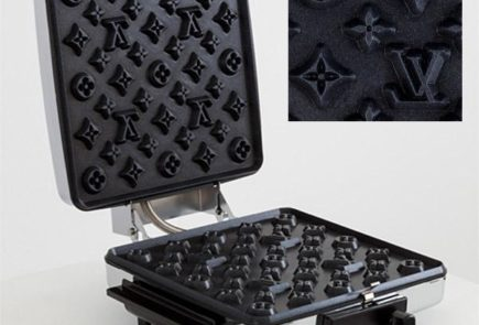 Diseño conceptual de plancha para waffles de Louis Vuitton