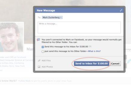 Enviar mensaje privado a Mark Zuckerberg