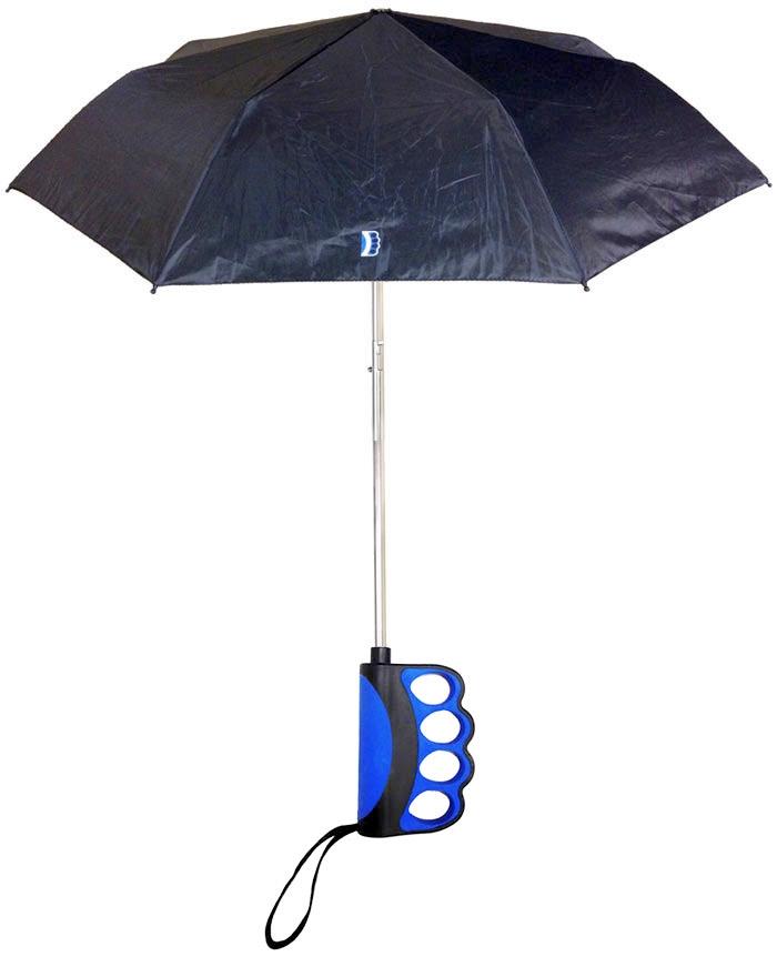Paraguas para chatear con el móvil a dos manos