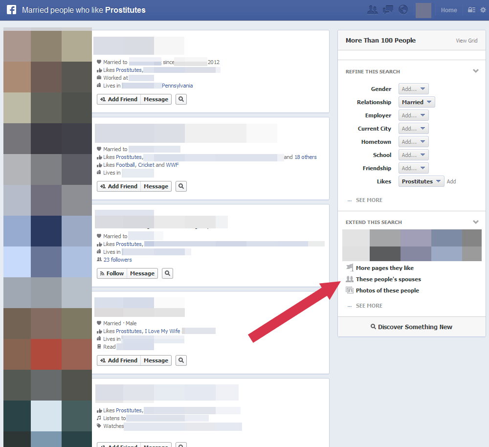 busqueda con facebook graph search