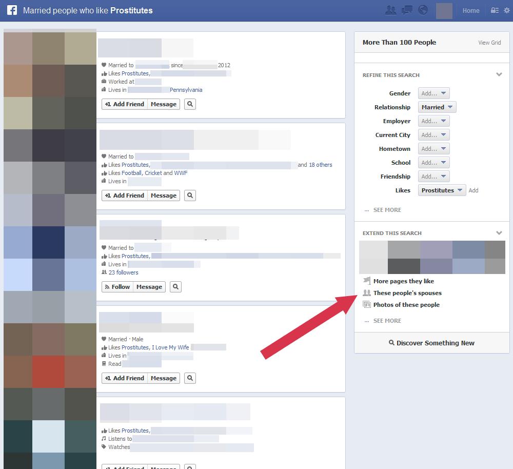 busqueda con facebook graph search