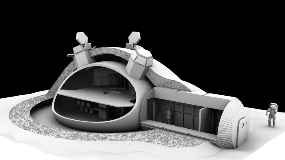 Diseño de la base lunar