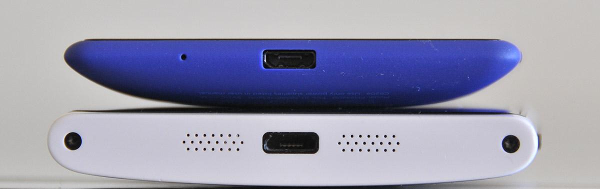 HTC Windows Phone 8X (arriba) y Nokia Lumia 920 (debajo)