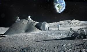 Base lunar construida con impresora 3D