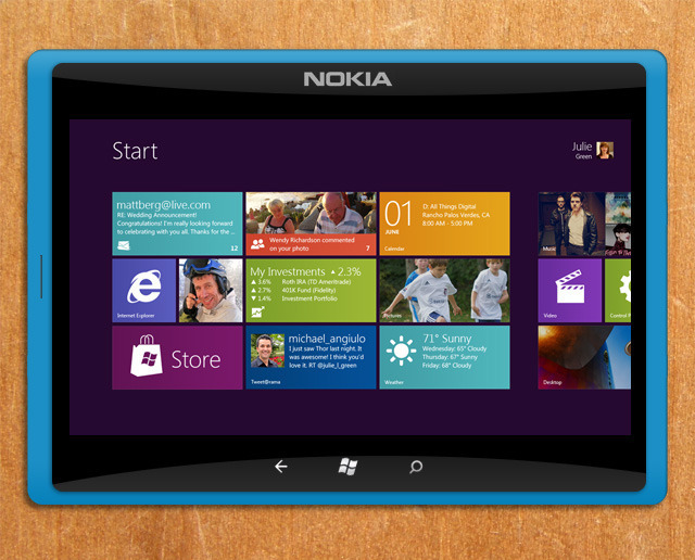 Nokia Windows 8 tablet (falso)