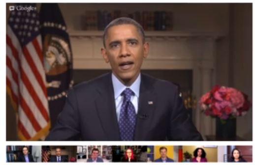 Hangout de Obama en Google+