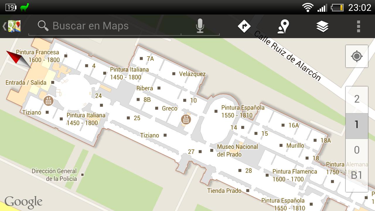Mapas de interiores en Google Maps