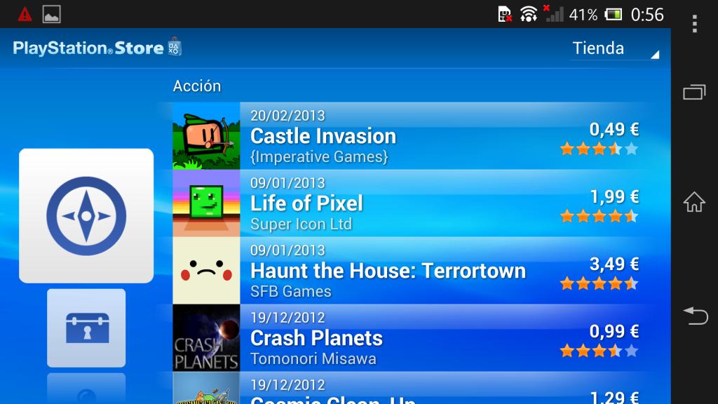 PSM en Sony Xperia Z