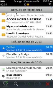 BlackBerry Torch 9860 - Mensajes
