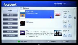 Facebook en LG 55LM860V