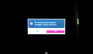 Problema navegador en LG 55LM860V