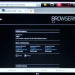 Test BrowserMark 2.0 en LG 55LM860V