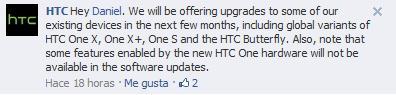 HTC en Facebook