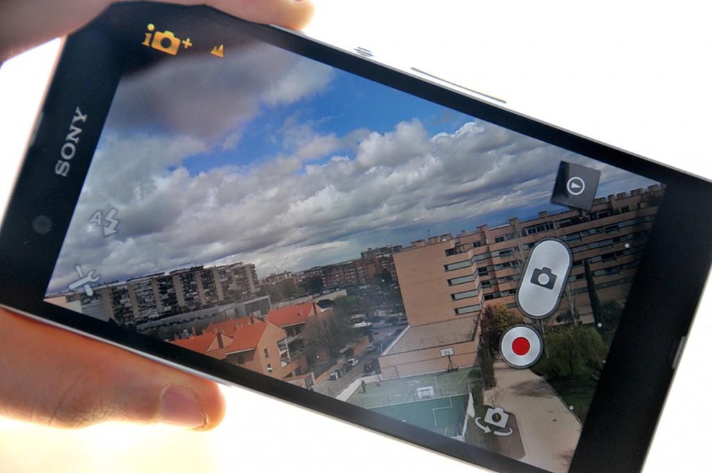 Sony Xperia Z interfaz cámara