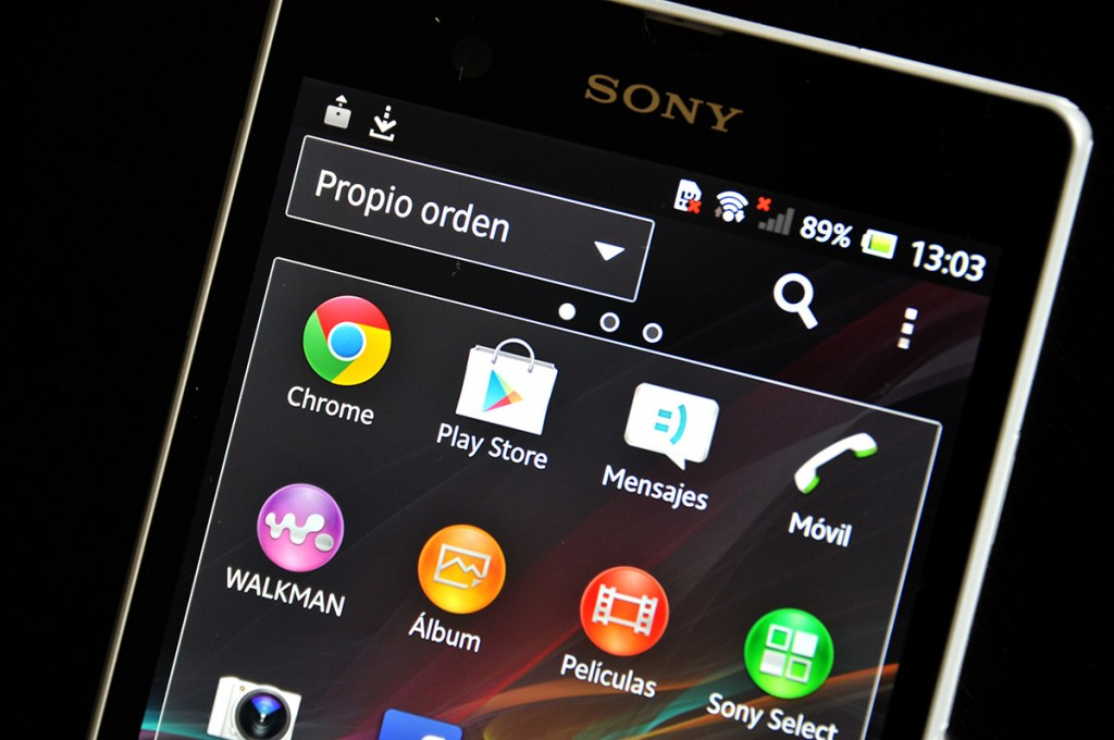 Sony Xperia Z pantalla