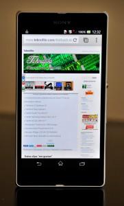 Sony Xperia Z navegador teknofilo