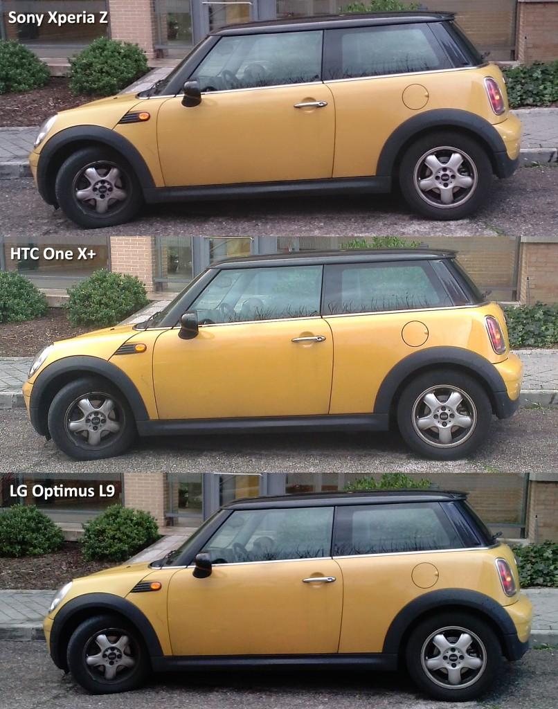 Comparativa Sony Xperia Z - HTC One X plus - LG Optimus L9
