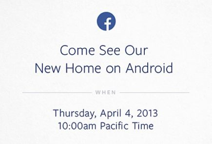 Evento Facebook sobre Android