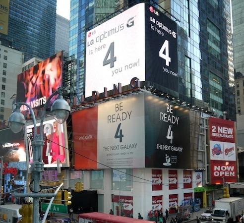 Anuncio LG en Times Square