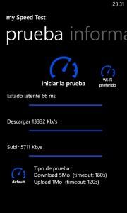 Nokia Lumia 820 - Prueba velocidad