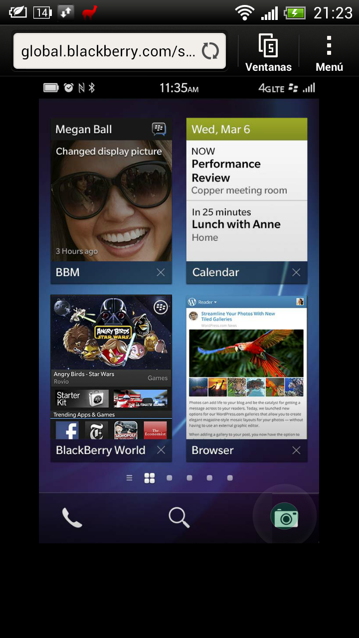 Simulador BlackBerry 10