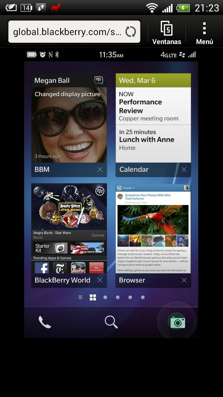 Simulador BlackBerry 10