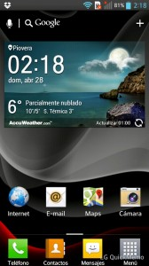 LG Optimus L9 - pantalla principal