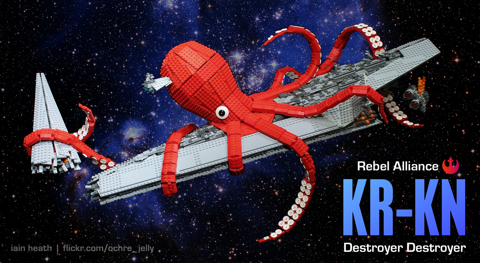 Calamar gigante rojo LEGO