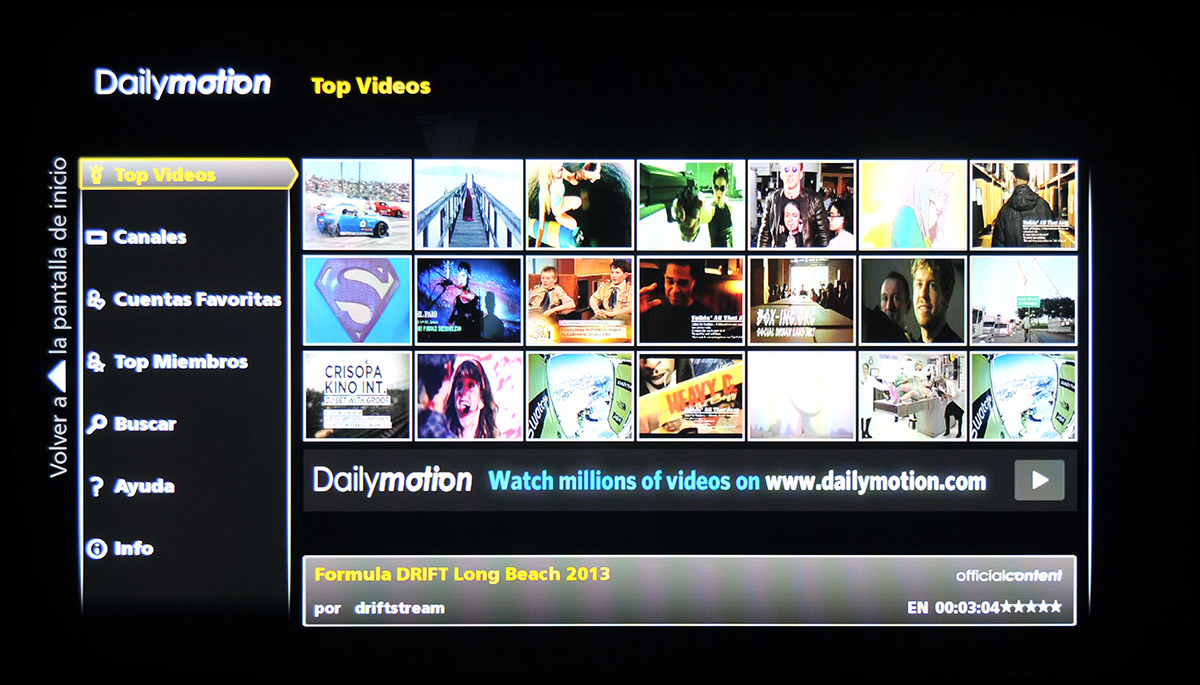 Panasonic Smart TV – DailyMotion