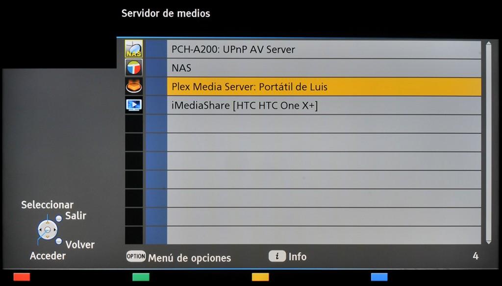 Panasonic Smart TV - Servidor de Medios 4