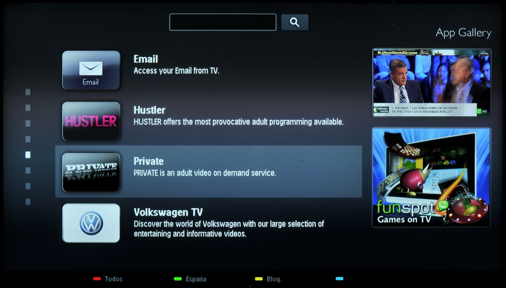 Philips Smart TV Galeria Apps