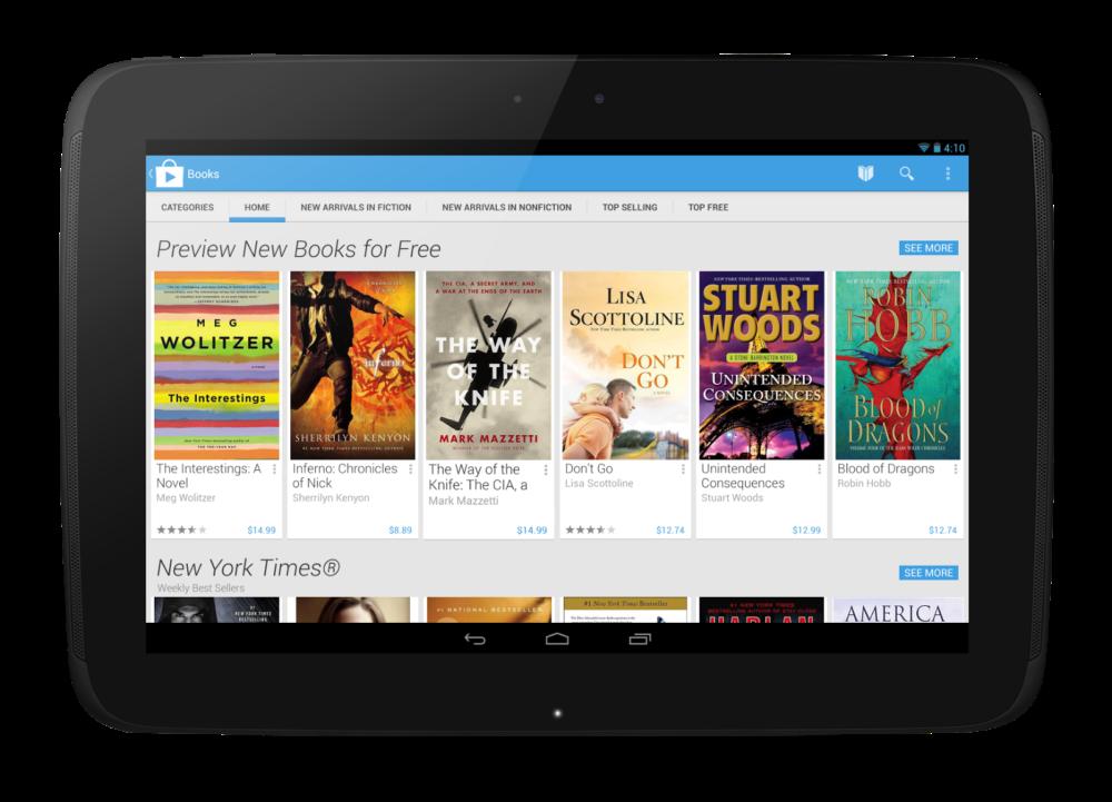 Google Play Books Home