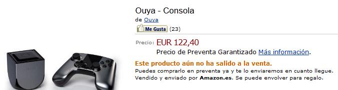 Ouya la venta en Amazon España