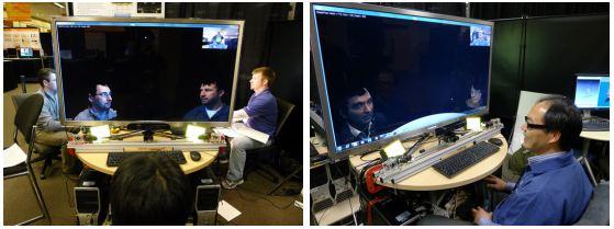 Los ingenieros de Microsoft, probando Viewport