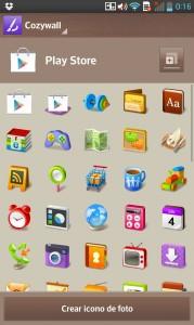 LG Optimus G - Cambio de iconos