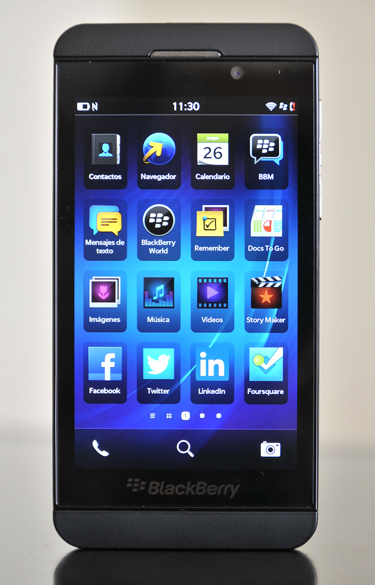 BlackBerry Z10 - Frontal