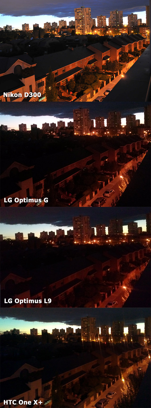 Comparativa Optimus G, Optimus L9, HTC One X+ y Nikon D300