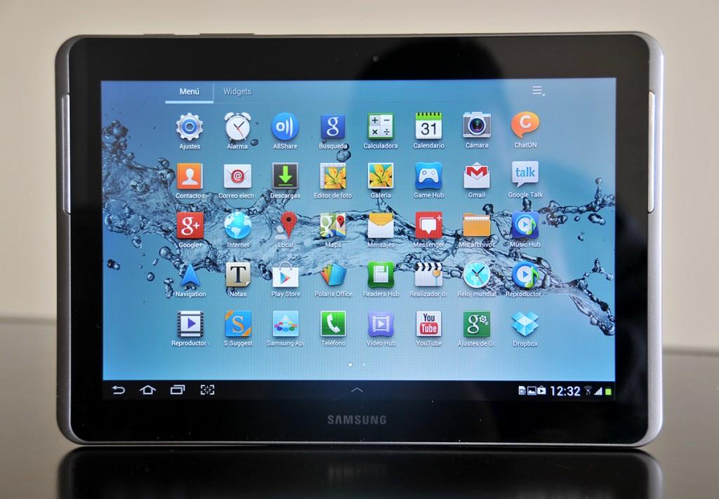 Galaxy Tab 2 10.1 - menu de aplicaciones