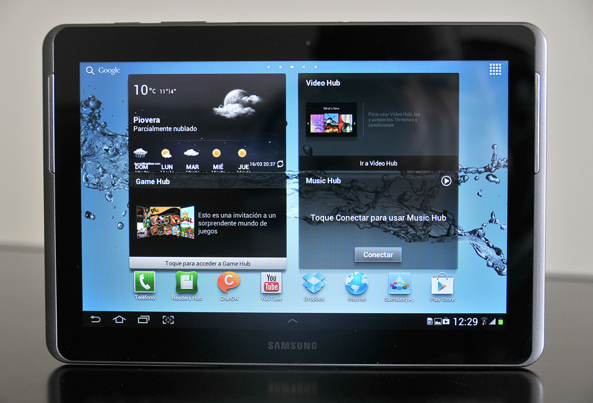 Galaxy Tab 2 10.1 - parte frontal