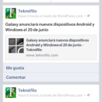 BlackBerry Z10: Facebook