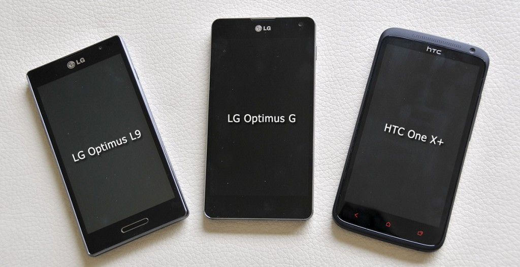 LG Optimus G junto con Optimus L9 y HTC One X+