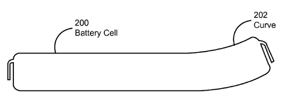 Patente Apple baterías curvadas