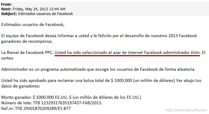Correo spam indescifrable