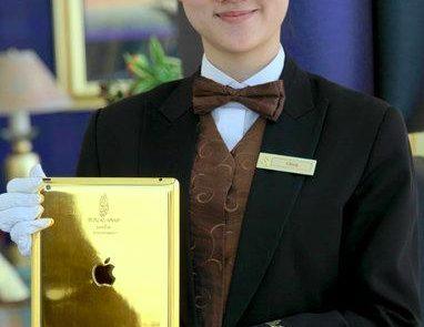 iPad de oro en hotel de Dubai