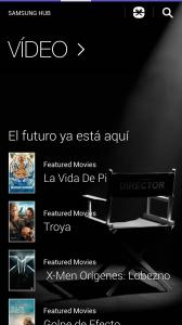 Vídeo en Samsung Hub