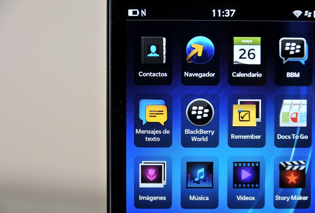 BlackBerry Z10: Pantalla
