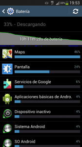 Batería Google Maps