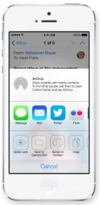 AirDrop en iOS 7