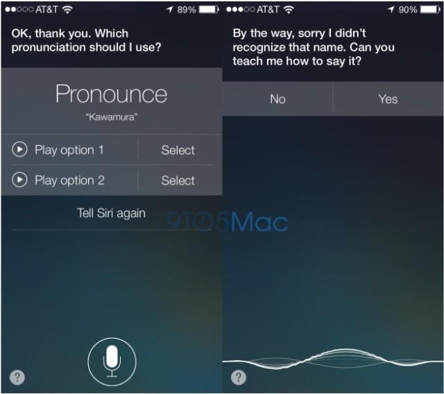 Siri aprende a pronunciar en iOS 7